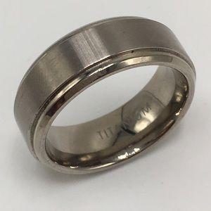 Titanium ring band size 9